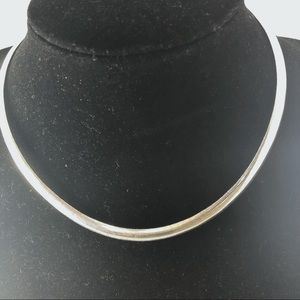 "Jewelry - Beautiful 17"" Silver Omega Chain/Necklace"